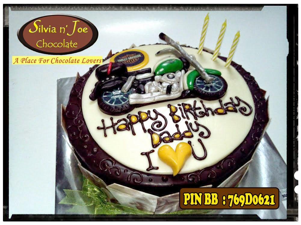 Cake coklat 3D Harley Davidson 3D CAKES KUE ULANG TAHUN 3D