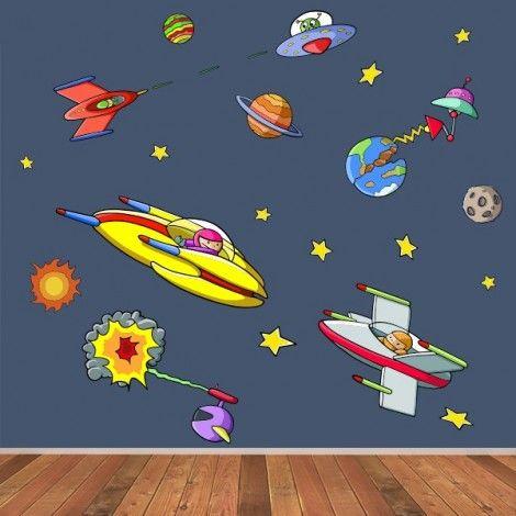 Guerra de las galaxias vinilos infantiles una verdadera - Vinilos infantiles para paredes ...
