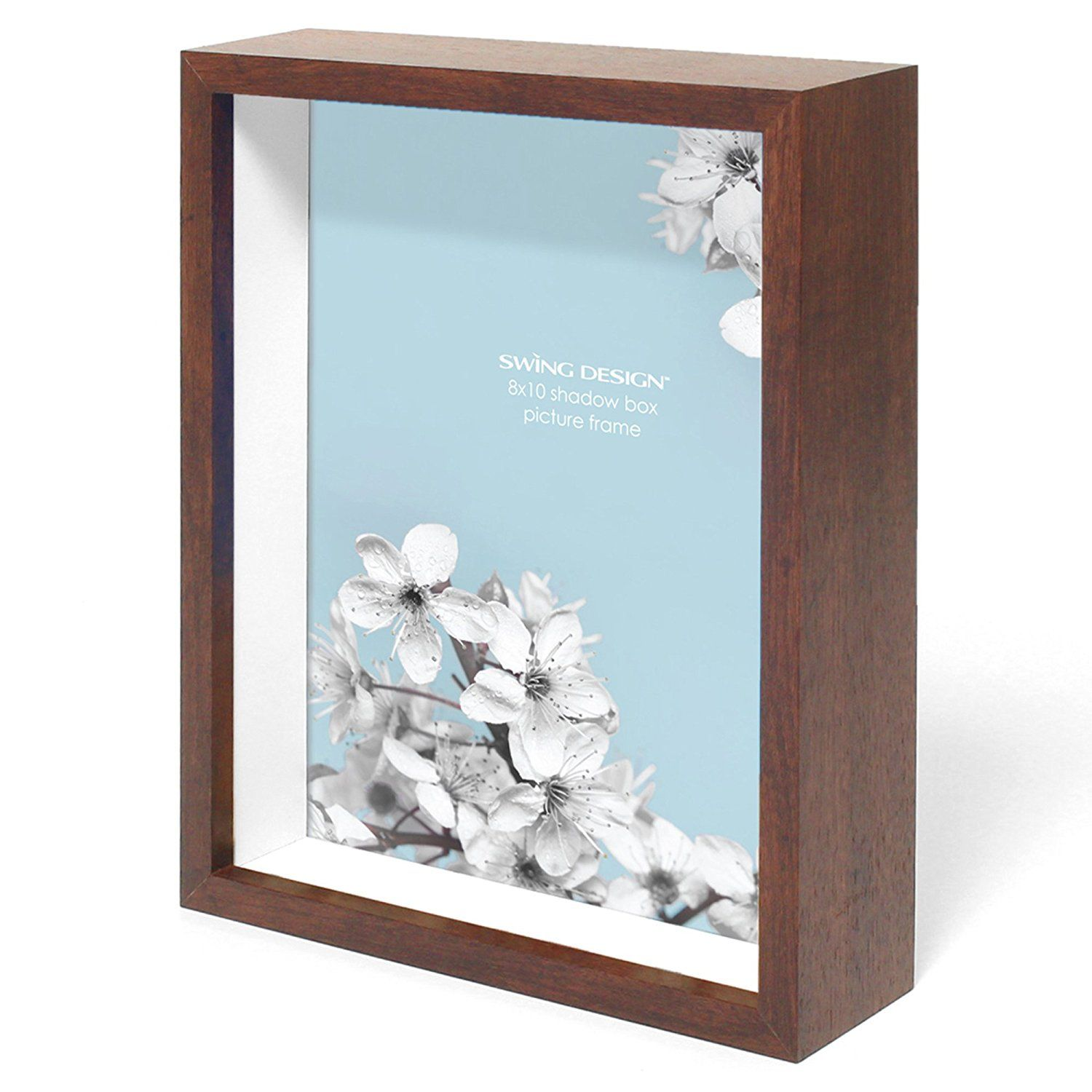 Swing Design Chroma Shadow Box Frame 8 By 10 Inch Walnut Visit The Image Link More Details This Is Shadow Box Picture Frames Box Frames Shadow Box Frames