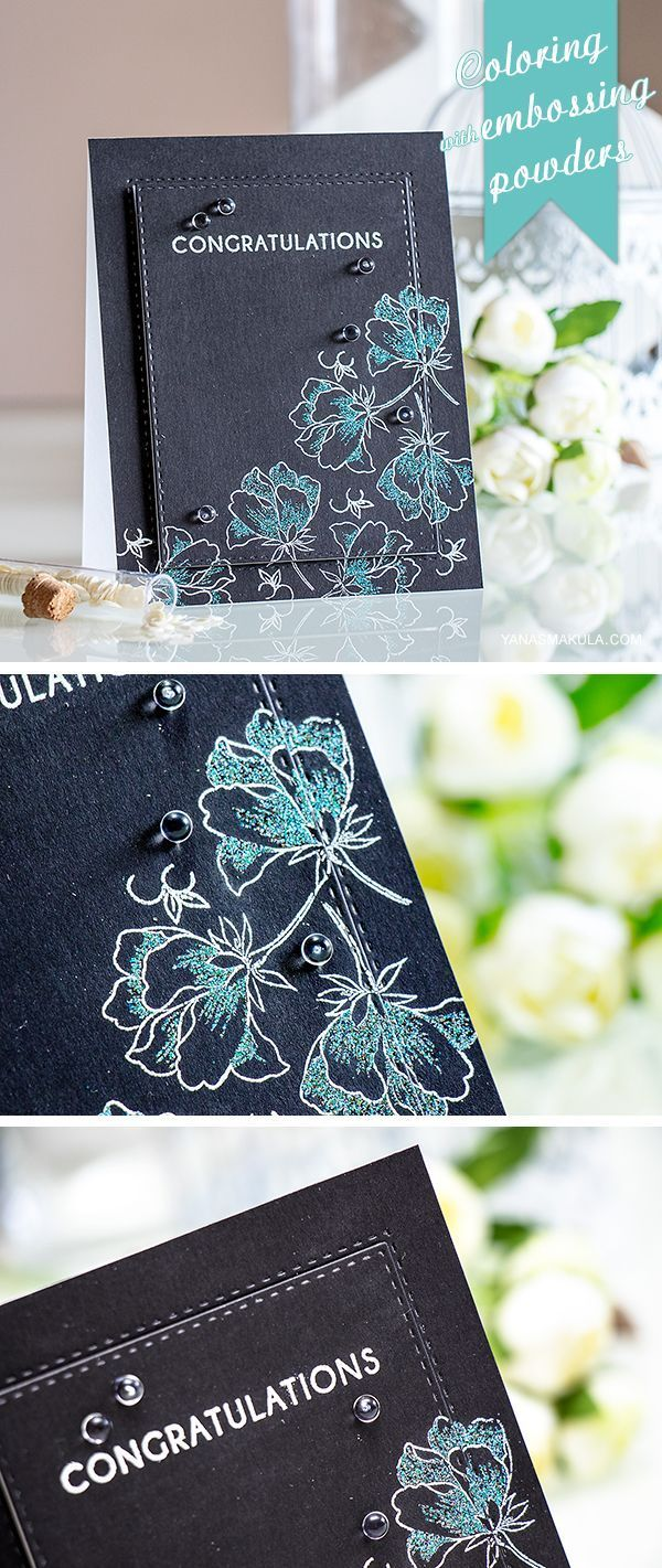 Use Embossing Powders Instead Of Inks To Color Color Layering