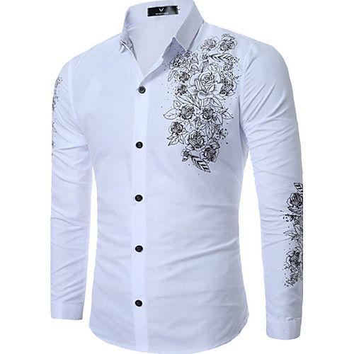 Hombre Negocios Tallas Grandes Estampado - Camisa 9cd60480c48