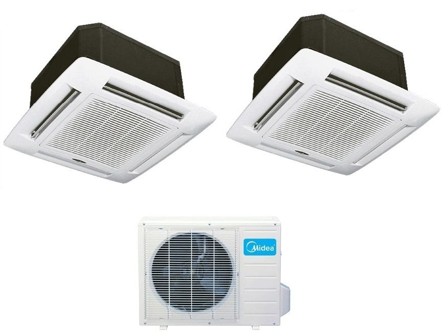 1699 Ex Tax This System Heats Cools In The Package 2 Indoor Unit 12000 Btu Ceiling Cassette 2 Remote Controls On Diy Electrical Heat Pump Cassette
