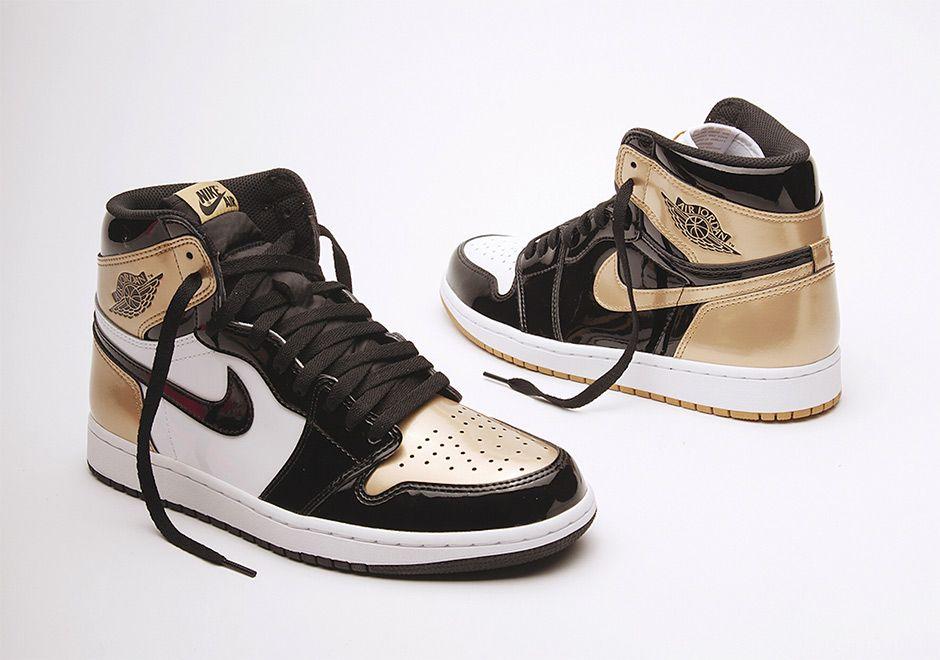 Air Jordan 1 Top 3 Black Gold Patent Leather Sneakernews Com
