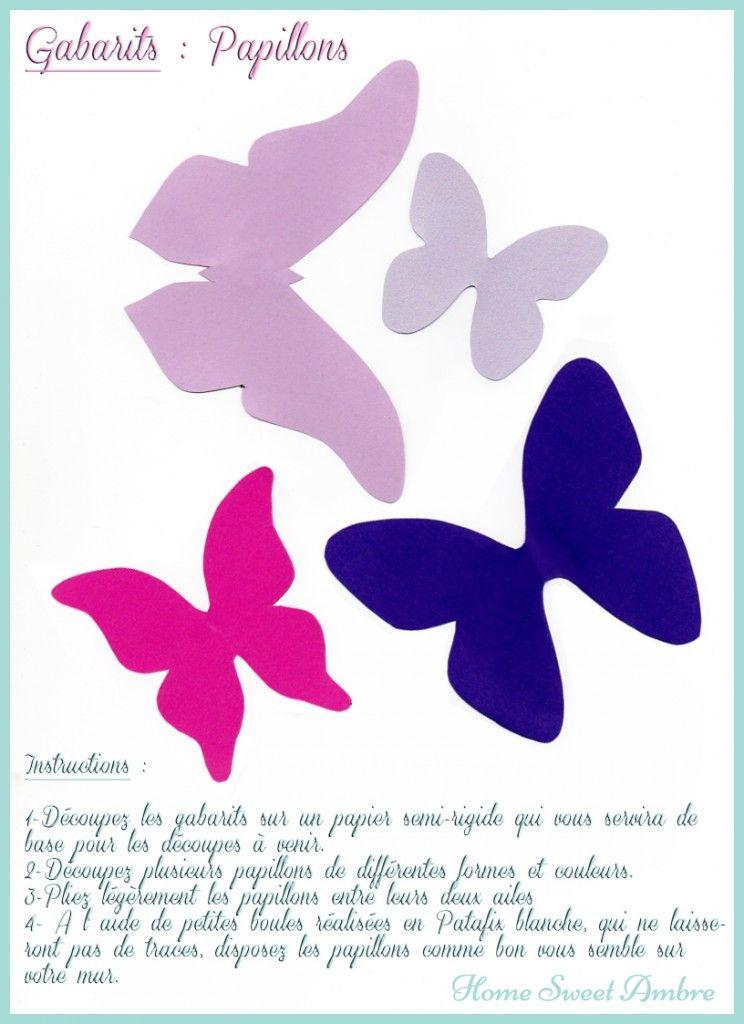 Gabarits Papillons Murs Gabarit Papillon Papillon Mur Papillon