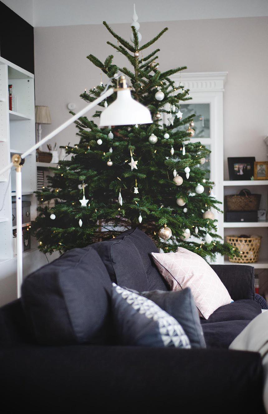 wundersch ne weihnachtsb ume von bloggern mit tollen ideen. Black Bedroom Furniture Sets. Home Design Ideas