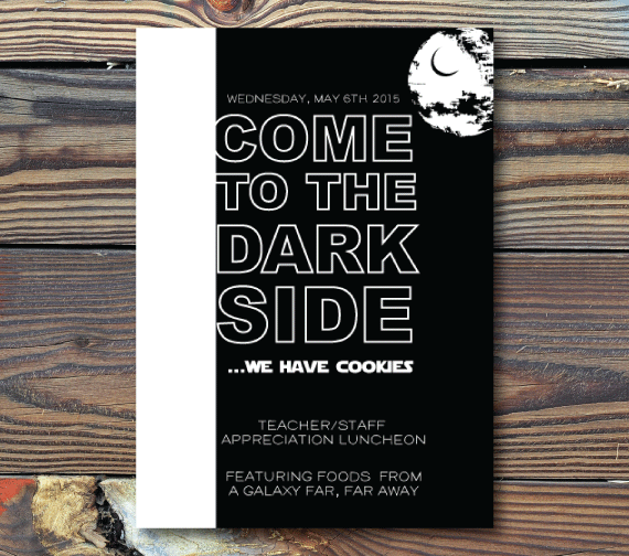 Party InvitationsCome to the Dark SideStar Wars Party invitations