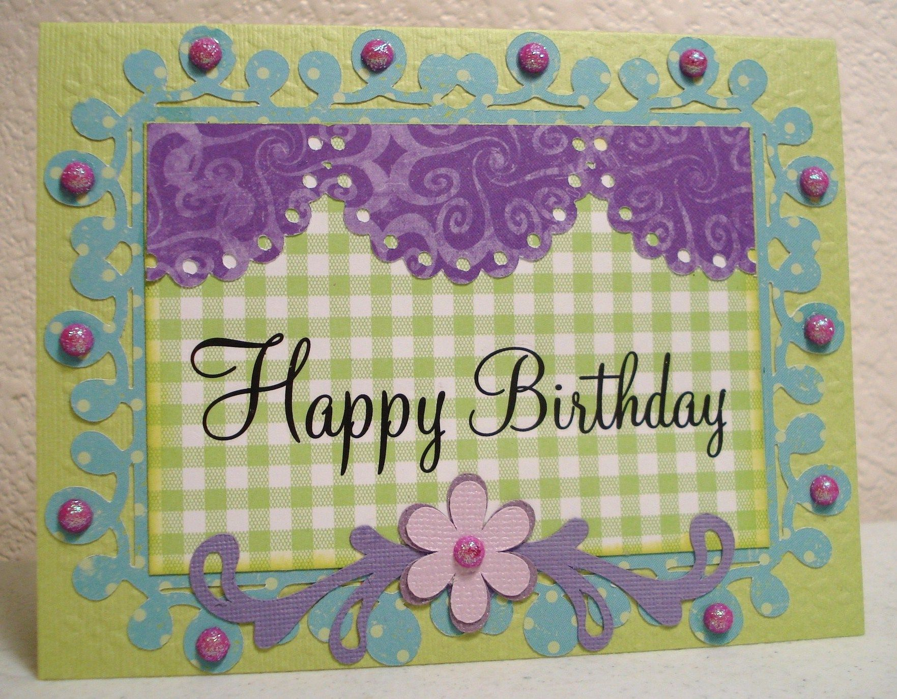 Birthday Card Scrapbook Com Scrapbooking And Cards Pinterest