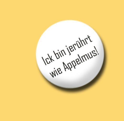 Button-.. jerührt wie..-Berlin! black/white von MAD IN BERLIN auf DaWanda.com