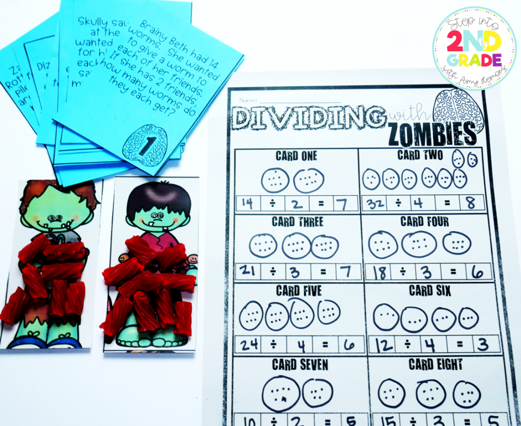 Zombies in Love {with math} Zombie Division Word Problems ...