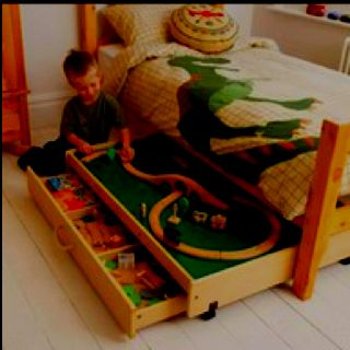 Under Bed Train Table With Images Kids Room Boy Room Kids Room