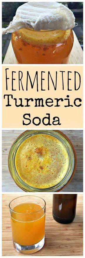 Soda alla curcuma naturalmente fermentata