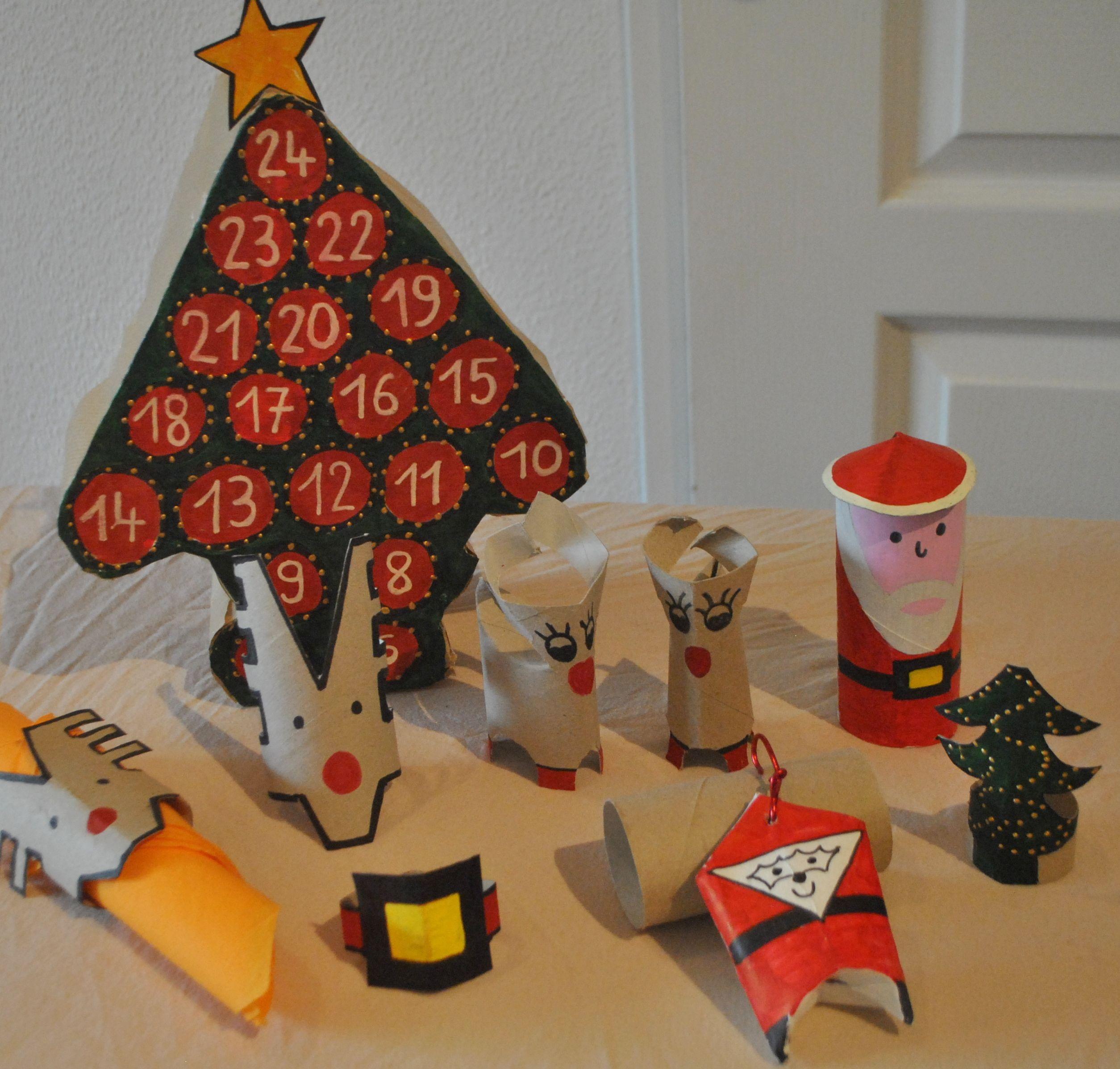 6 idées Déco de Noël avec des rouleaux de papier toilette