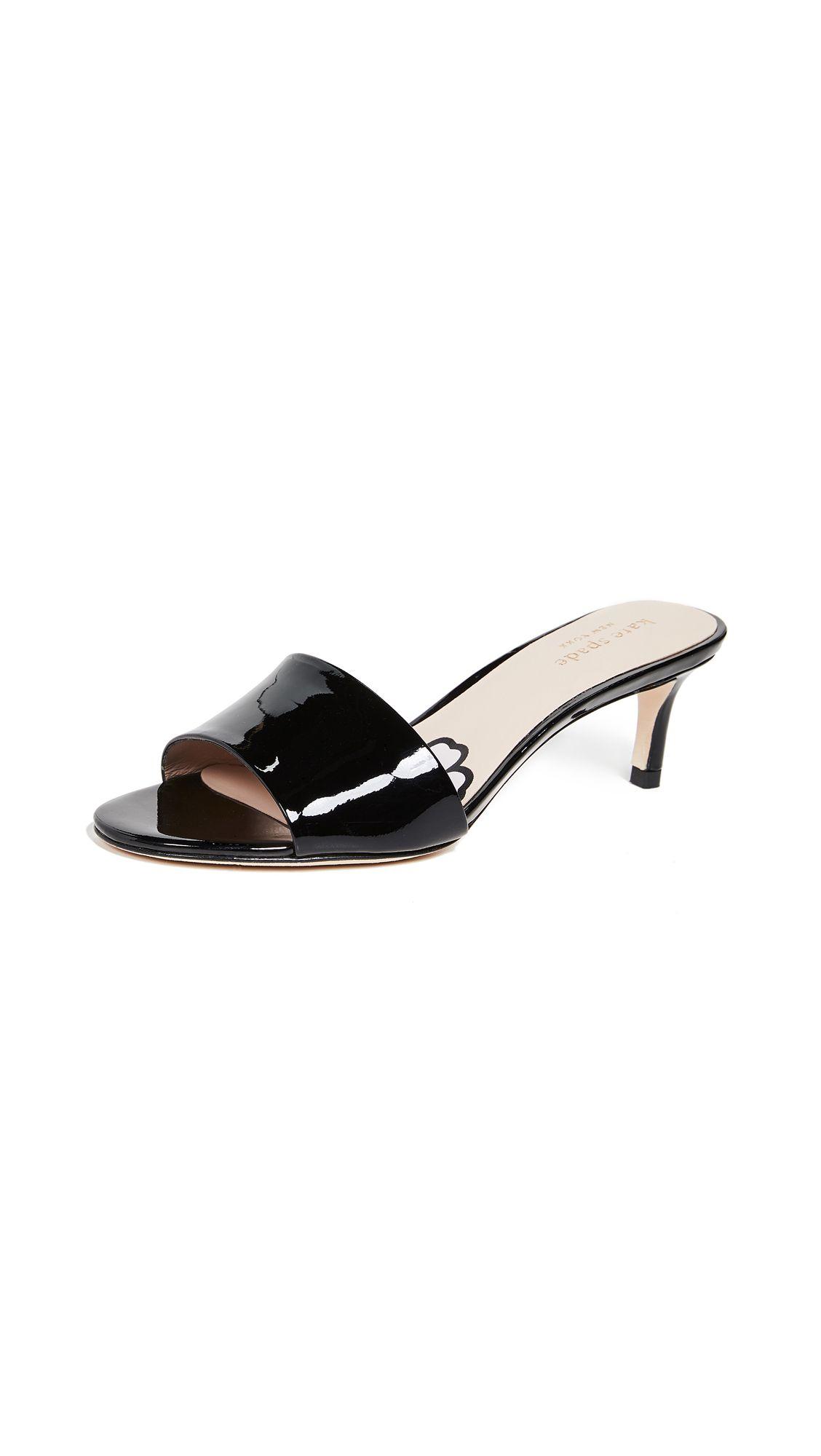 Savvi Kitten Heel Slide Sandals In 2020 Kitten Heels Heels Slide Sandals
