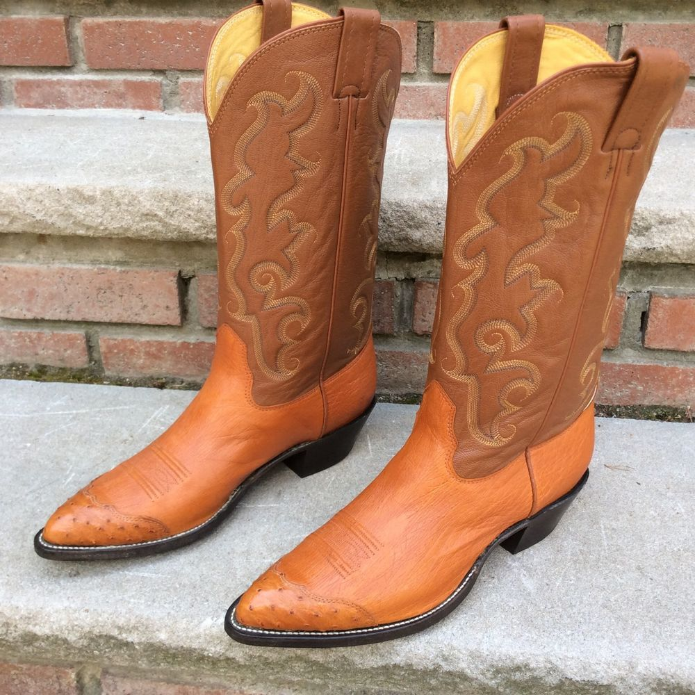 Men's Vintage Zodiac Distressed Brown Leather Cowboy Boots size ...