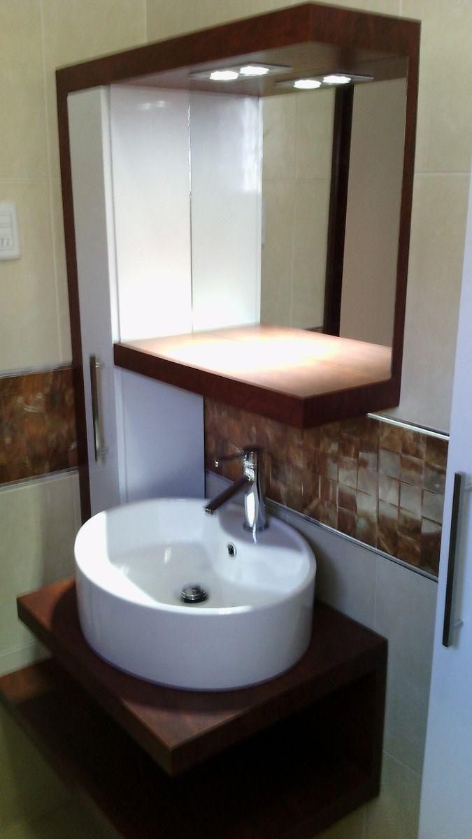 Mueble moderno de ba o lavamanos por separado ideas for Muebles para bano modernos y economicos