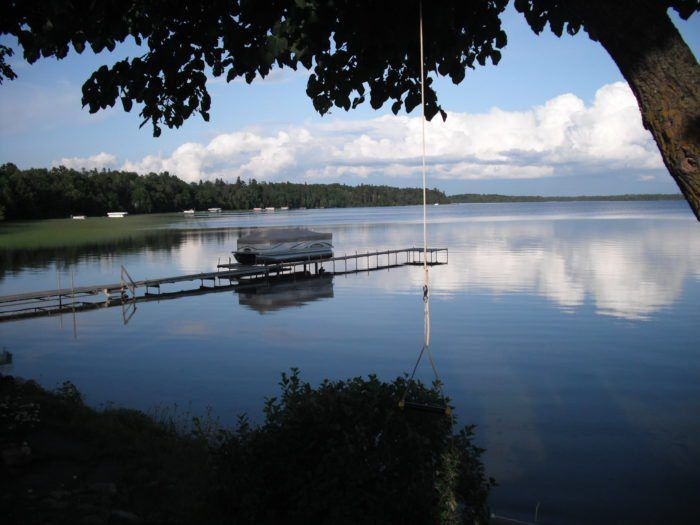 During summer months, Deer Lake is a popular place to go