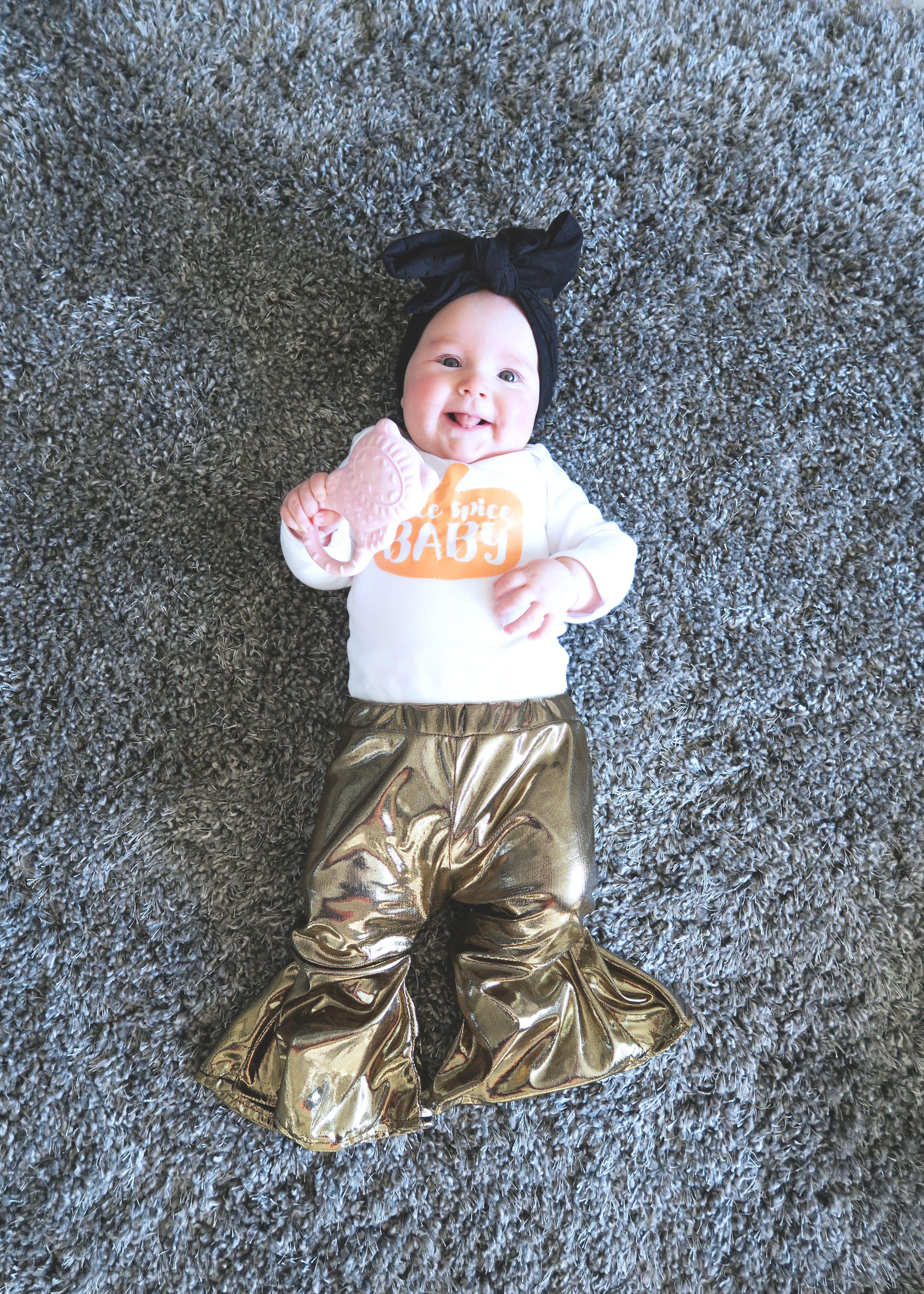 Baby bell bottom leggings free sewing pattern baby