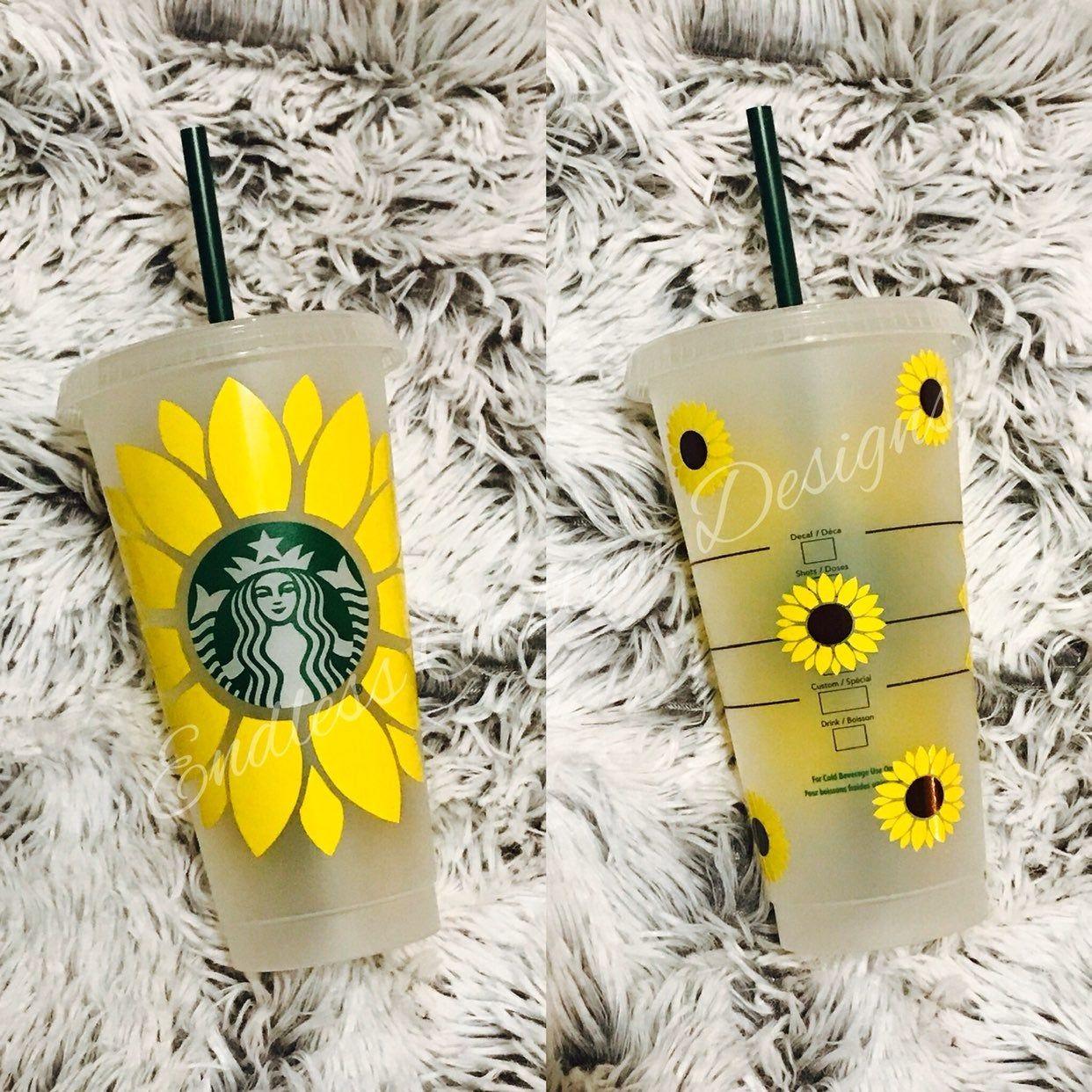 Download Sunflower inspired Starbucks tumbler ! | Starbucks tumbler ...
