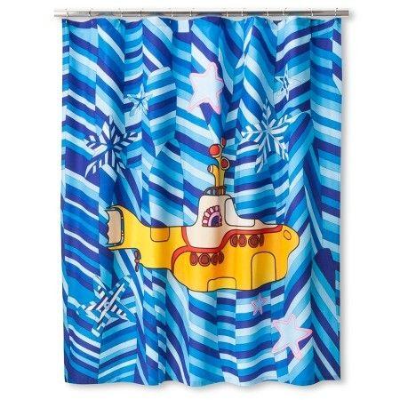 Good The Beatles Yellow Submarine Shower Curtain, Blue/Yellow