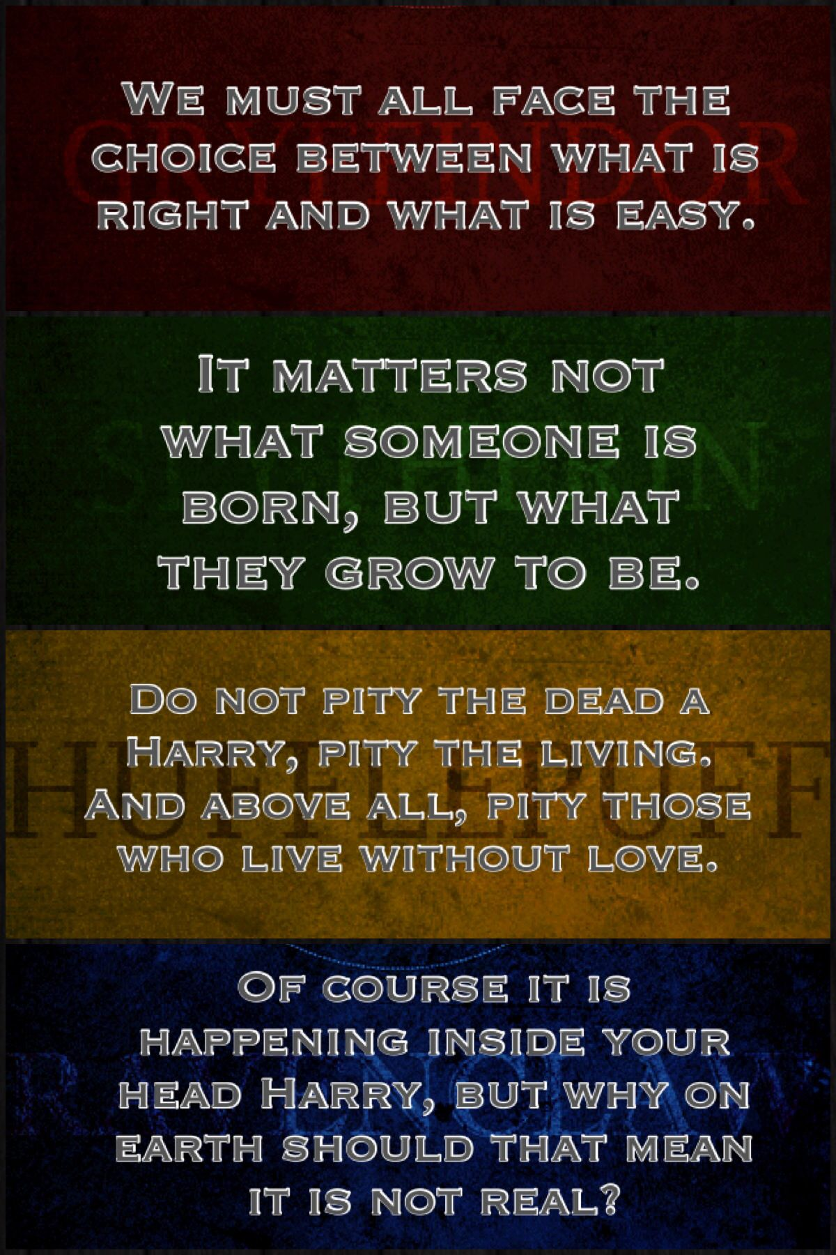 Harry Potter Book Quotes House Quotes From The Books  Harry Potter  Pinterest  House