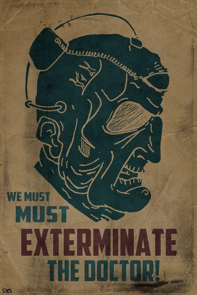 Davros - We must exterminate the Doctor! Art Print