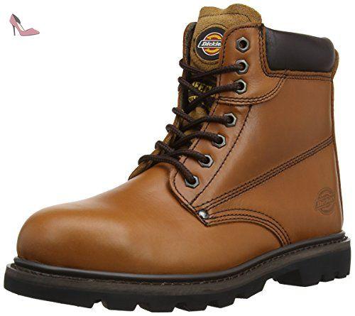 Dickies - Calzado de protección para mujer, color marrón, talla 45