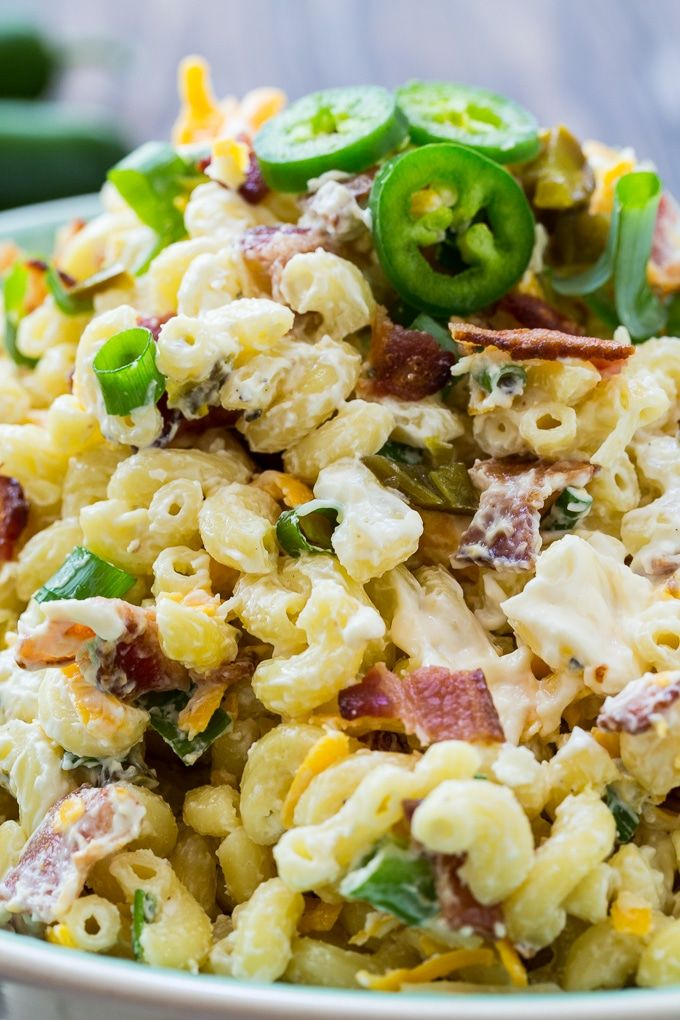 Jalapeno Popper Pasta Salad Spicy Southern Kitchen Recipe Pasta Salad Pasta Salad Recipes Pasta