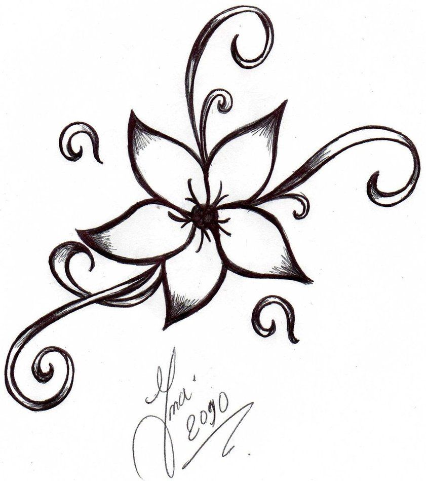 cool easy flower designs to draw on paper flower tattoo by shizuka dono on deviantart art. Black Bedroom Furniture Sets. Home Design Ideas