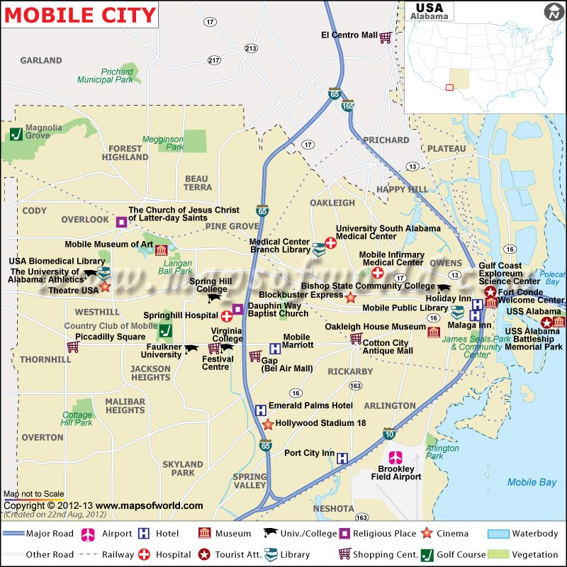 Map showing location of tourist places, airports, hotels, landmarks ...