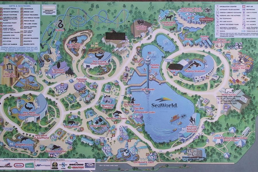 Map Of Orlando Florida And Surrounding Cities%0A Sea World  Orlando  Florida