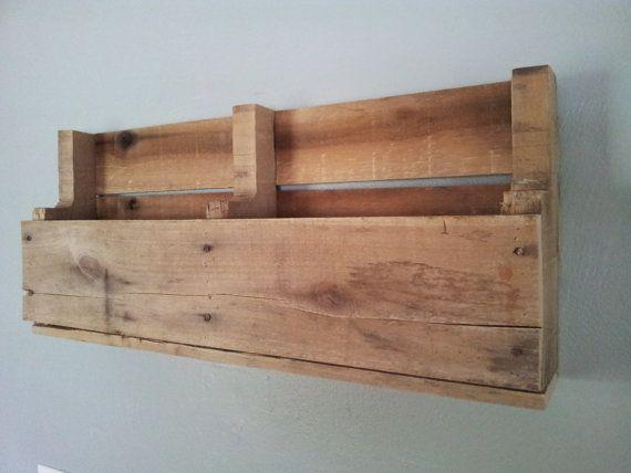 Pallet Shelf Magazine Rack Book Shelf By Geckoshyde On