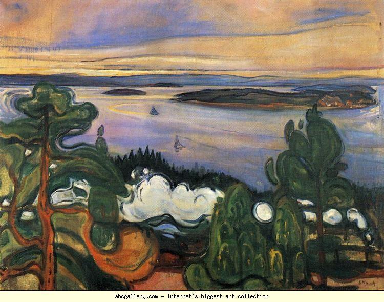 Edvard Munch. Train Smoke. Olga's Gallery.