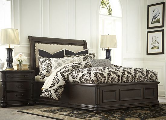 havertys bedroom furniture bedrooms hathaway upholstered fabric bed bedrooms 11774