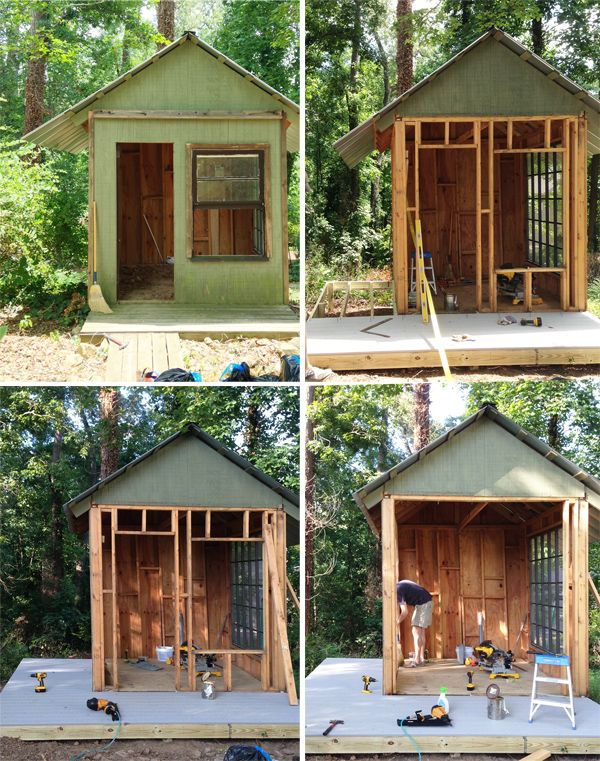 An Amazing Kids Playhouse Built From An Old Backyard Shed Backyard House Play Houses Build A Playhouse