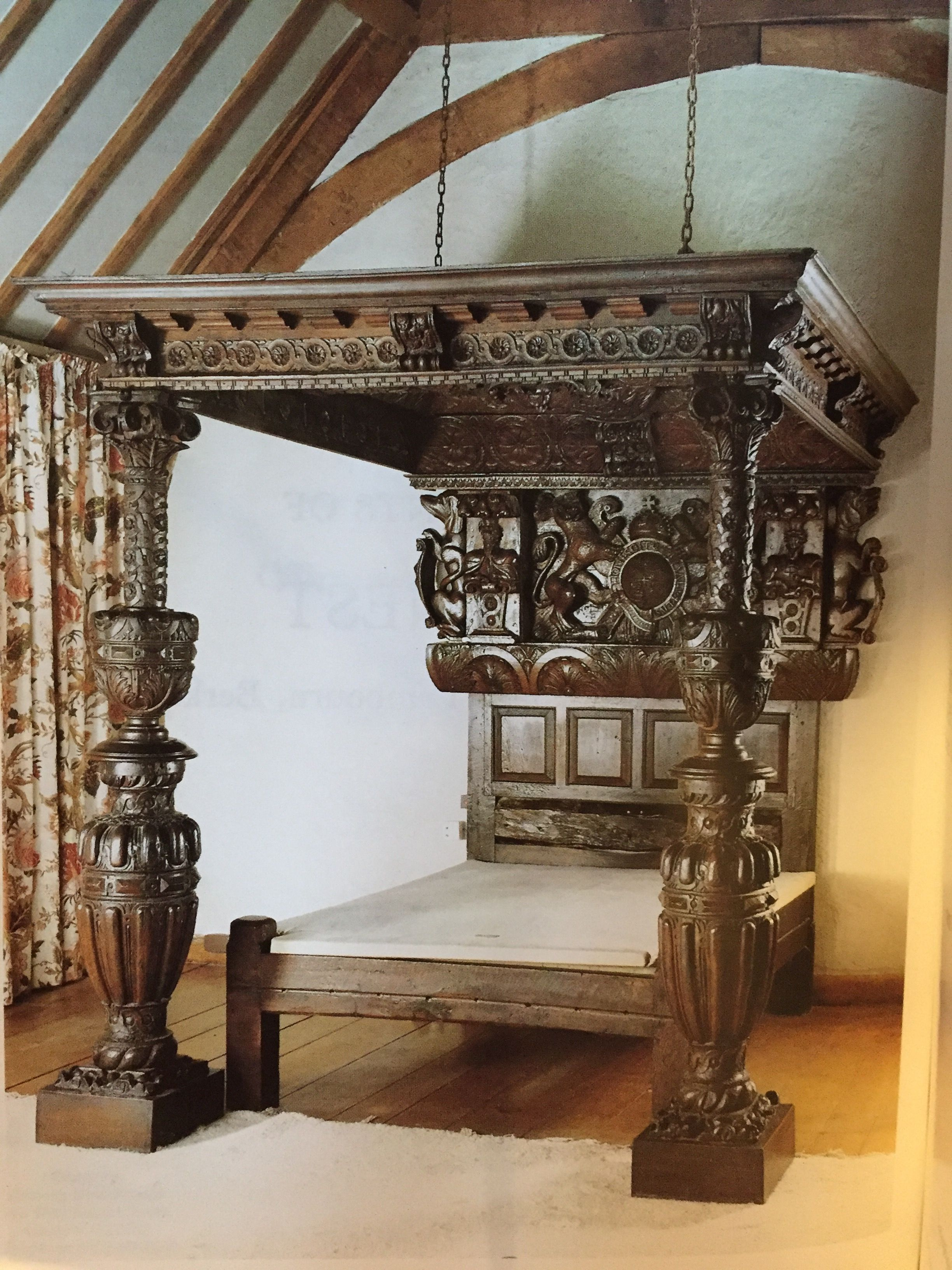 Elizabethan bed gothic renaissance baroque furniture - Renaissance style bedroom furniture ...