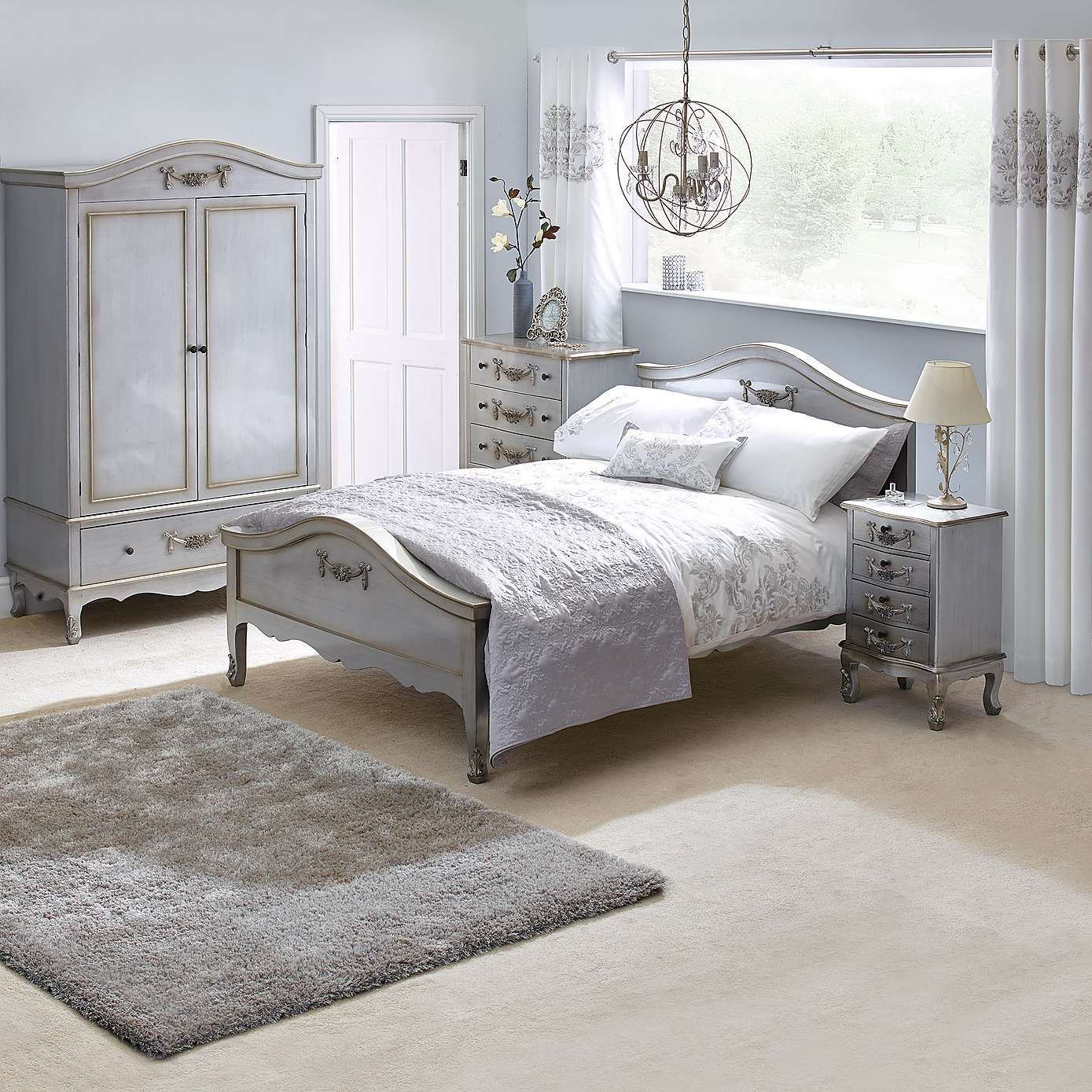 Silver Bedrooms Toulouse Silver Bedroom Collection Dunelm Second Bedroom