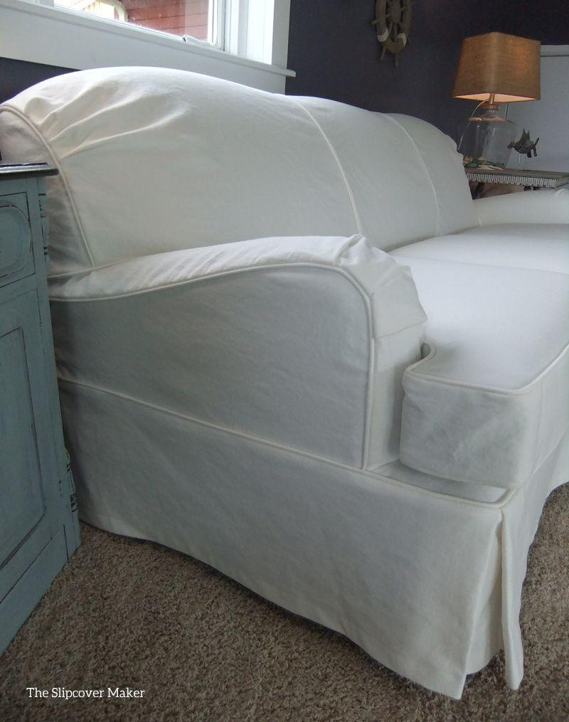 White Denim Slipcover For Art Van Scarlett Sofa Furniture