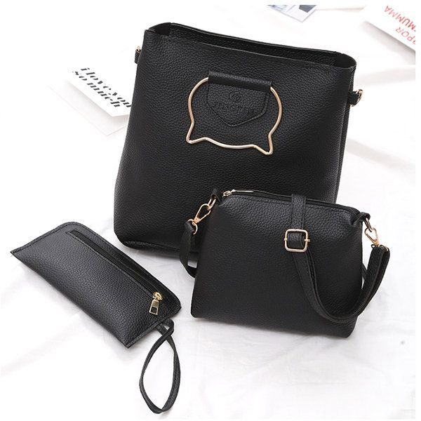 d25267c1b77 3 Pcs Cat Handbag Vintage Tote Bag High-end Crossbody Bag | Products ...