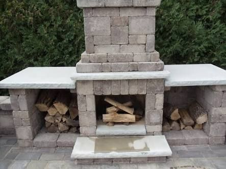 Image result for how to build an outdoor fireplace with ... on Building Outdoor Fireplace With Cinder Block  id=14973