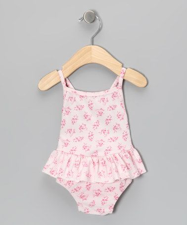Take a look at this Rose Pink Skirted One-Piece - Infant, Toddler & Girls by M.N. Bird & Co. on #zulily today!