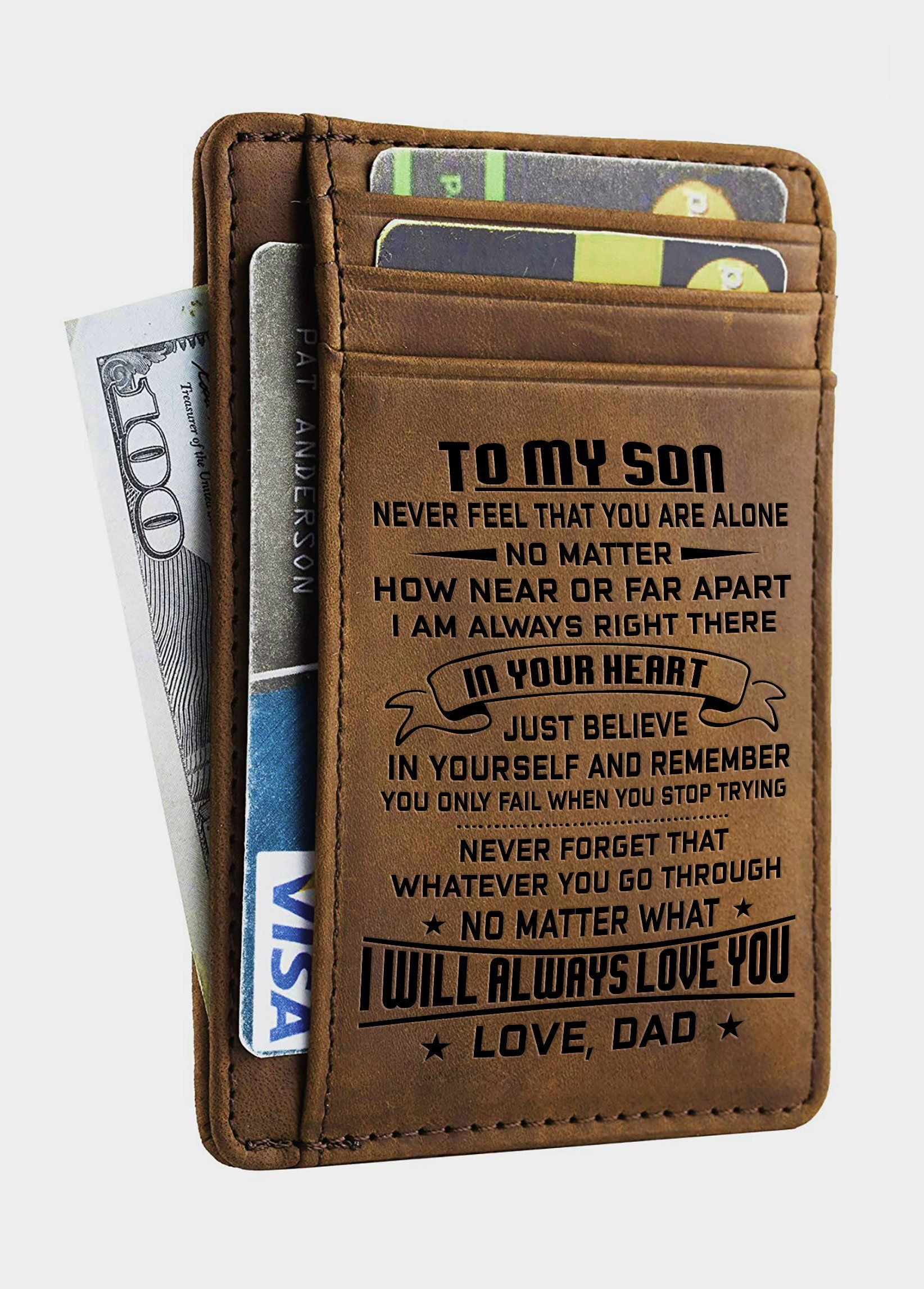 4f3957b982b9 Minimalist Wallets Gift for son daughter from Dad Slim Wallet RFID Front  Pocket Wallet.