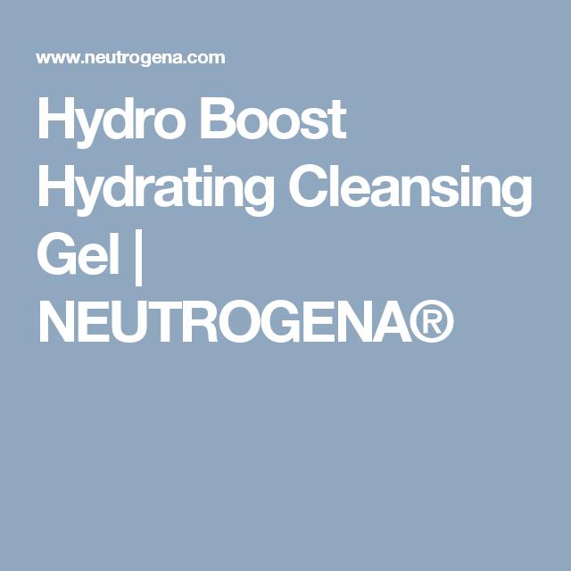 Hydro Boost Hydrating Cleansing Gel                                  NEUTROGENA®