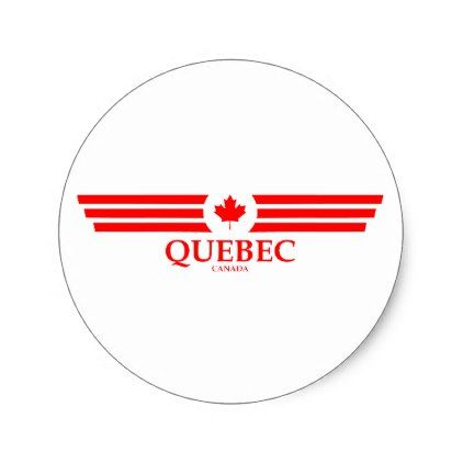 Quebec classic round sticker round stickers and quebec quebec classic round sticker round stickerssurreyroundinguniqueclassic quebecdiypresent solutioingenieria Image collections