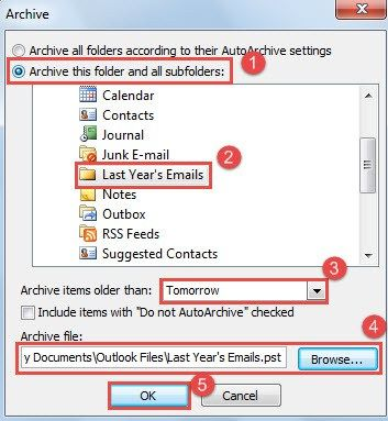 6 Easy Steps To Archive Last Year S Outlook Emails Outlook Email Outlook Years