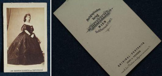 Visitenkarte der Kaiserin Elisabeth
