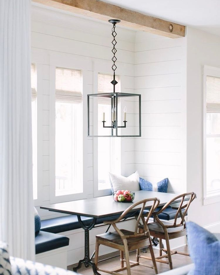 Sharing 10 ways to use shiplap today on Beckiowens.com!  Loving this one @katemarkerinteriors 💙 Details + images on the blog.