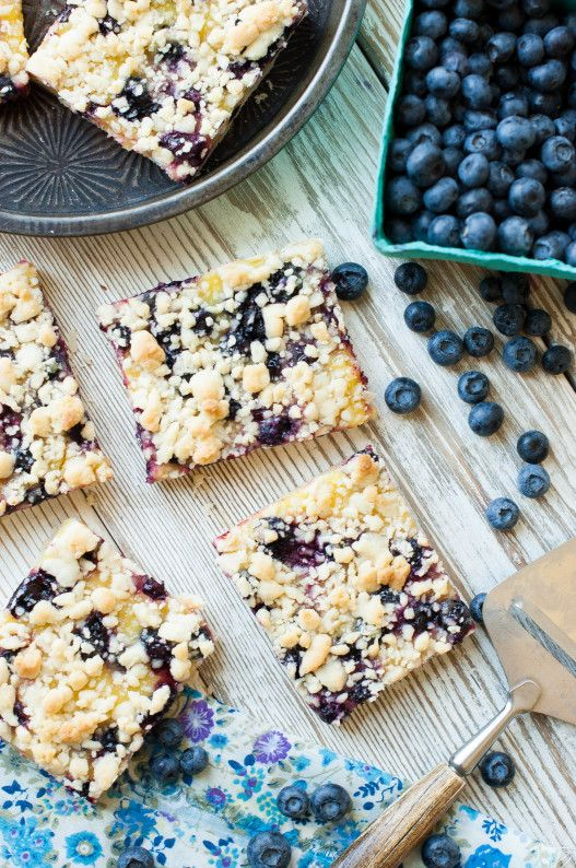 Blueberry Lemon Shortbread Crumble Bars Recipe Cake