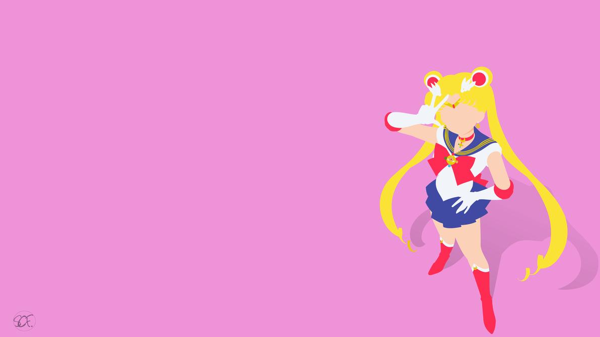 Sailor Moon Classic Minimalist By Stellacris Sailor Moon Wallpaper Sailor Moon Aesthetic Sailor Moon Luna