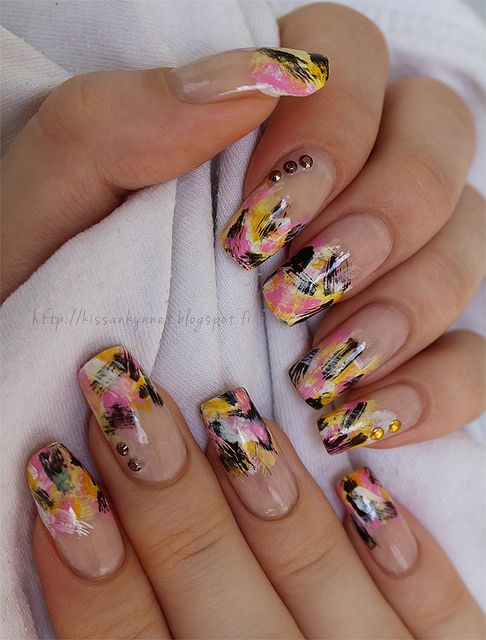 Distressed_summer_nails by -Yue, via Flickr