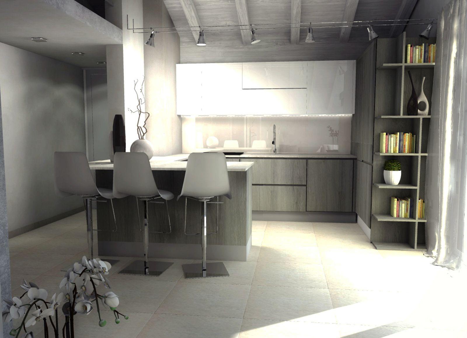 faretti con binario - Cerca con Google  illuminare  Pinterest  Cucina penisola, Mansarda e ...